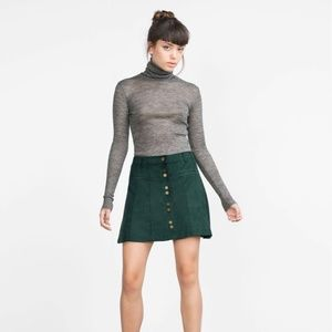 Zara Trafaluc Faux Seude Mini Skirt